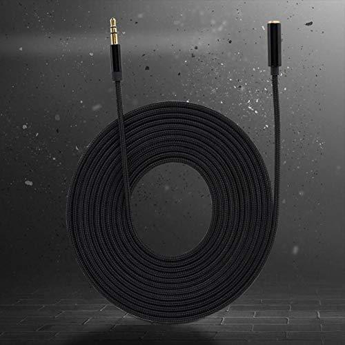 FOLOSAFENAR Salida sin Ruido Sin Sonido Actual Conector estéreo de 3,5 mm Macho a Hembra Cable de Audio Duradero, para Juegos, para Conexiones de Dispositivos de Audio, para música,(3 Meters)