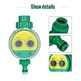Lijincheng Riego Programado Manguera Válvula Temporizador automático Jardín Agua Digital electrónico LCD de riego Controlador de riego Sistema programable a Prueba de Agua (Color : US Plug)