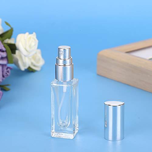 Dispensador de aerosol recargable, botella de perfume, 5 ml de aceite corporal de uso diario Aceites esenciales para viajes(6ml+silver nozzle)