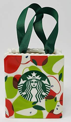 Starbucks Apples 2020 Ceramic Tote Bag Ornament Gift Card Holder