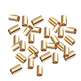 SUPVOX 100PCS Macrame Brass Tubes Golden Spacer Beads for DIY Sewing Craft Wall Hanging Pl...