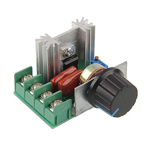 L-Yune,bolt Controlador de Velocidad Inteligente 1pc Electrónica 220V 2000W SCR regulador de Voltaje de atenuación Controlador de Motor Termostato atenuadores (tamaño : 220V 2000W)