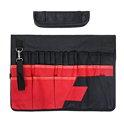skrskr 42 Taschen Eimer Werkzeug Organizer Oxford Stoff Hardware Reparaturset Eimer Organizer Gartenwerkzeug Eimer Tasche Gartenbedarf
