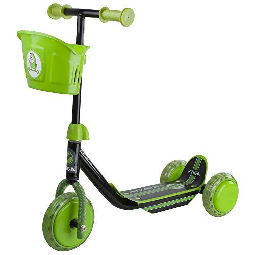 STIGA Mini Kid 3W Sparkcykel med 3 Hjul för Barn, svart/grön