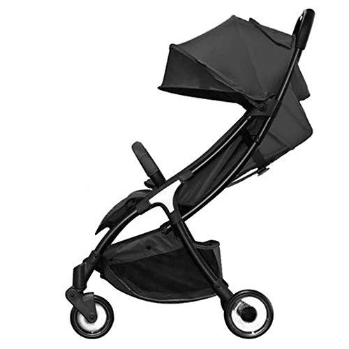 Baby-Baobei Poussette pour bébé, facile à transporter, confortable et pliable, poussette à trois roues multifonction