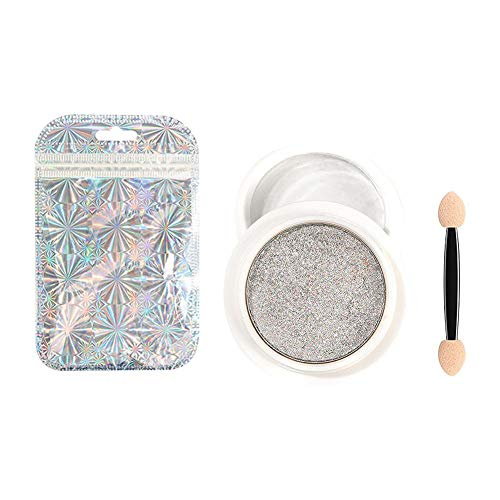 ZY123 Chrome Nail Poudre-Effet Miroir Poudre À La Mode Longue Durée Holographique Nail Poudre Manucure Pigment Set