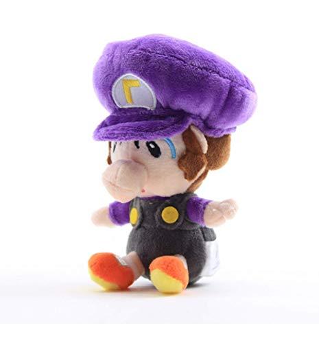 GHJU Baby Waluigi Plüsch-Spielzeug Mini Super Mario Bros weiche Puppen Plüschtiere 15Cm Kind-Geschenk QingQiao