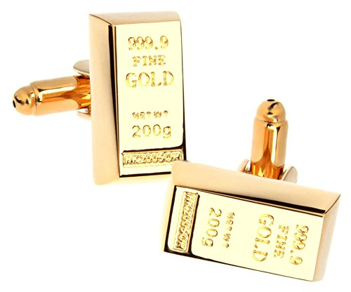 Goldbarren Manschettenknöpfe (Vergoldet) von CUFFLINKS.DIRECT (Manschettenknöpfe mit Geschenkbox)