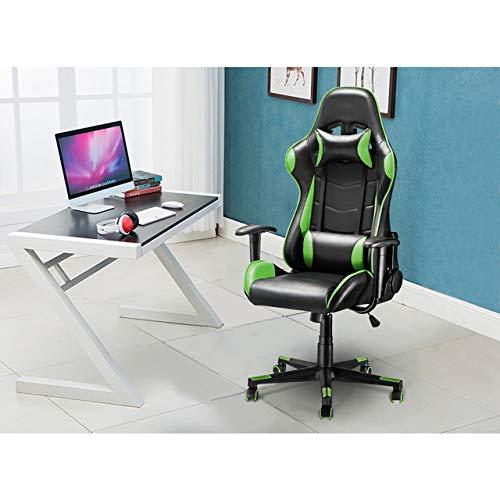 SUWENKANG Sedia da Ufficio ergonomica Sedia da Gioco per Computer con Schienale Alto Sedia da Bar per Internet Poltrona da casa