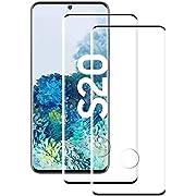 rongqdz Galaxy S20 Panzerglas Schutzfolie, [2 Stück] Hohe Qualität Gehärtetem Glass [Fingerabdrucksensor Kompatible] [HD Clear] [Blasenfrei] Panzerglasfolie für Samsung Galaxy S20