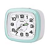Reloj Despertador Analógico, Sin Tictac Silencioso Despertador de Viaje con luz nocturna de Repetición Relojes de Escritorio Pequeños Silenciosos