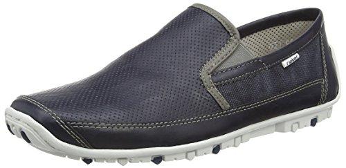 Rieker Herren 08989 Loafers & Mocassins-Men Slipper, Blau (Atlantis/dust/Denim / 15), 46 EU