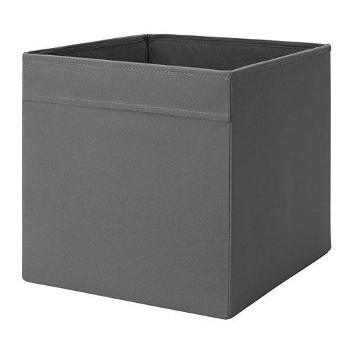 Ikea Dröna – Estantería de Almacenamiento en 33 x 38 x 33 cm (Ancho x Profundidad x Altura) – Gris – Apto para Kallax, Expedit, Besta, etc, plástico, Negro, 33 x 38 x 33 cm
