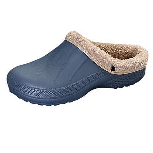 TIMEMEAN Unisex Winter Warm Slippers Wasserdicht Innen Plüsch Pantoffel Und Im Freien Garten Schuhe