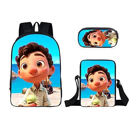 Maksim-003 Nueva mochila anime impresión juventud niño niña regalo viaje ocio mochila conjunto de tres piezas (color: 1)