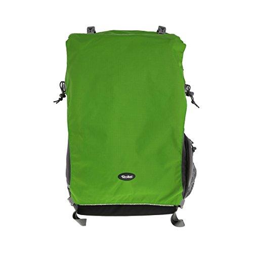 Rollei Traveler Backpack Canyon XL - Mochila para cámara para Intemperie Profesional con Gran cantidad de Espacio, Inserto Separado para Equipo de cámara - Tamaño M (50 litros) - Forest (Gris/Verde)