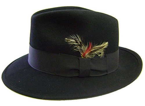 Modestone Unisex Fedora Henschel Feather Fabric Hatband Chapeaux Cowboy L