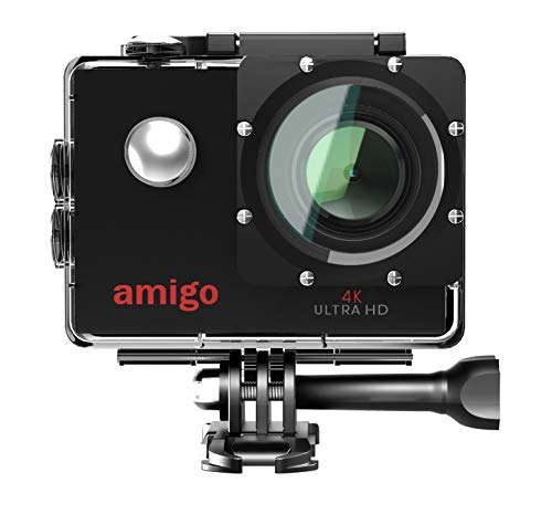 Amigo AC-40 4K Sports Action Camera with 16MP High Resolution with Wi-Fi   4K Ultra HD Video Recording with 120 Degree Wide Angle Lens and Waterproof Upto 30 Meters (Black)