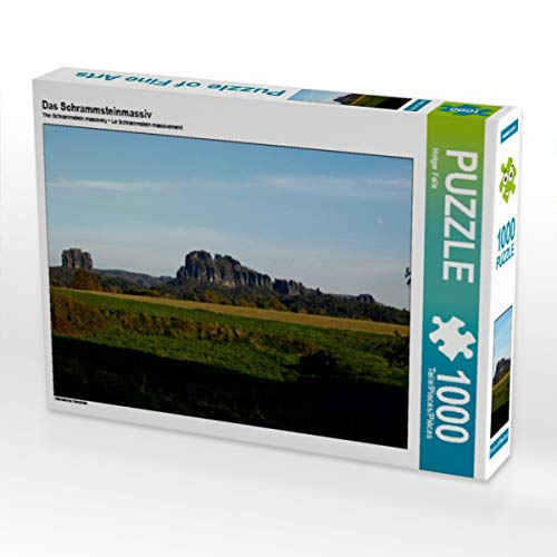 CALVENDO Puzzle Das Schrammsteinmassiv 1000 Teile Lege-Größe 64 x 48 cm Foto-Puzzle Bild von Holger Felix