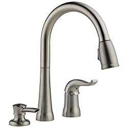 Delta Faucet Kate Single-Handle Kitchen Sink Faucet with Pull Down Sprayer and Magnetic Docking Spray Head