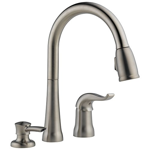 Delta Faucet Kate Single-Handle Kitchen Sink Faucet with Pull Down...