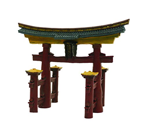 Rosewood Adorno para Acuario japonés Torii Gate