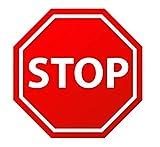 Pack 9 ud. Pegatina suelo Antideslizante señal stop seguridad - Medidas 35 cm / 13,78 in