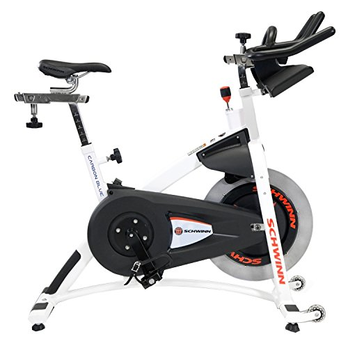 StairMaster Schwinn A.C. Sport Indoor Bike with Carbon Blue Belt Drive and Morse Taper - White -  100188-25