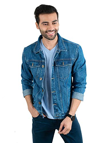 Avadat Studio Cotton Relaxed Denim Jacket for Men