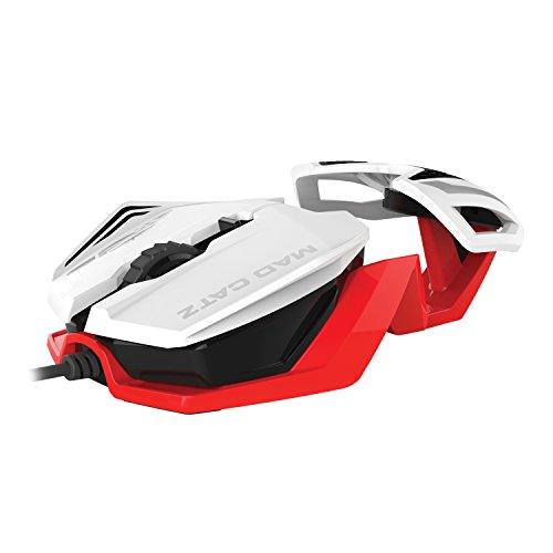 Madcatz - R.A.T. 1 Ratón, Color Blanco y Rojo (PC)