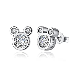 ♥MATERIALS & MEASUREMENTS: 925 Sterling Silver, this cute mouse stud earrings size is 0.3in*0.3in Net Weight:2.4g ♥A pair of dazzling mouse,these are a great present to Female ♥GREAT GIFT FOR HER: Well packed in an elegant gift package. A great gift ...