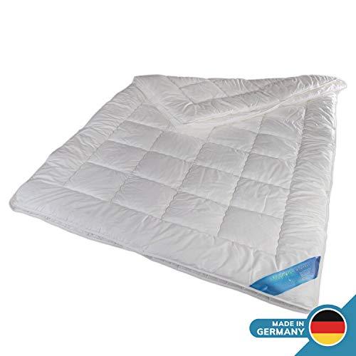 Schlafmond Medicus Clean Allergiker Vierjahreszeitendecke 135 x 200 cm, wärmeregulierende Kombi Decke aus Baumwolle, Bettdecke bis 95 Grad waschbar, Made in Germany