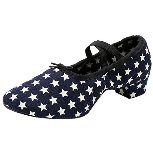 Sylar Zapatos Baile Latino Hombre Mujer,Zapatillas de Baile Latino Danza Suaves y Cómodos Zapatos Modernos al Aire Libre para Salsa Latina Tango