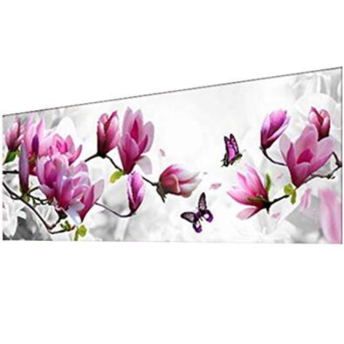 joyliveCY DIY 5D Diamant Stickerei Schmetterlinge Spielen Magnolia Runder Diamant Malerei Stickpackungen