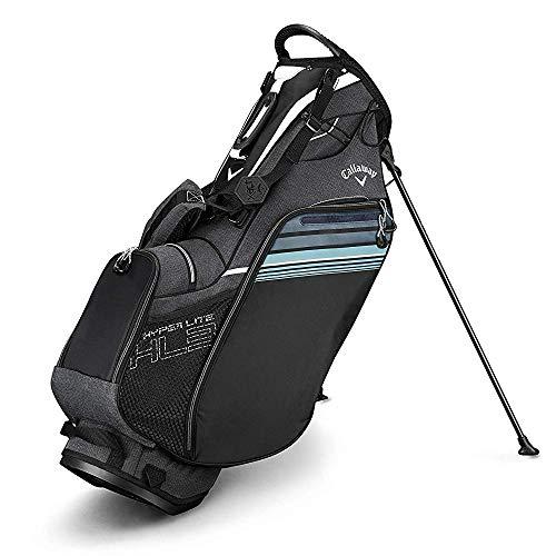 Callaway Golf 2019 Hyper Lite 3 Stand Bag, Black/White, Double Strap
