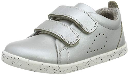 Bobux Mädchen IW Grass Court Trainer Sneaker, Silber (Silver), 24 EU