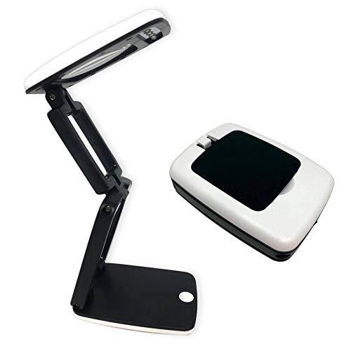Crafters Dream Lámpara de escritorio compacta, color blanco y negro - Ampliación X3