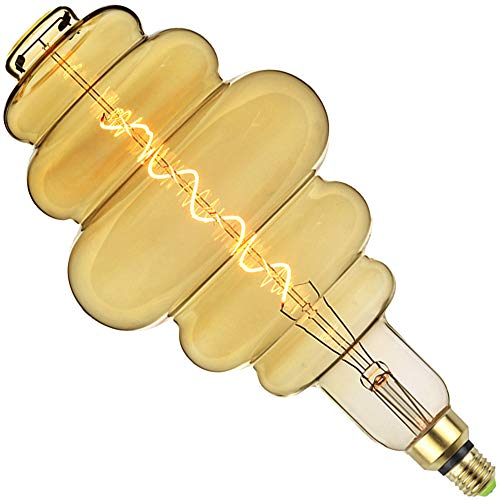 LightingDesigner - Bombilla LED gigante (4 W, intensidad regulable, E27, 220 / 240 V, forma de panal de abeja)