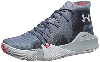 Under Armour Men s Spawn Mid Basketball Shoe Ash Gray  401 /Harbor Blue 5