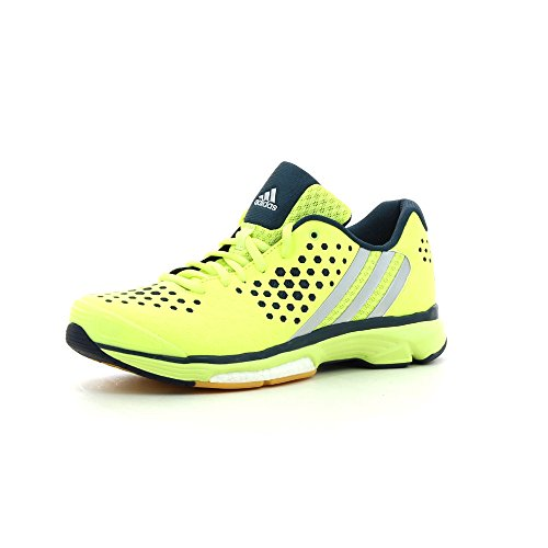 adidas Volley Response Boost W - Zapatillas para Mujer, Color Lima/Plata/Azul Marino, Talla