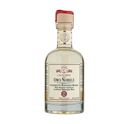 Leonardi Condimento Bianco Balsamico 250ml - Oro Nobile - aus Modena Region Emilia-Romagna - Essig - gereift im Eicheholzfass - 4 Jahre