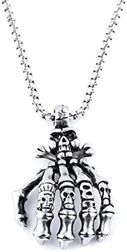Collar para mujer collar para hombre colgante calavera cruz colgante collar para hombre 2021 nuevo titanio acero jesús tótem religioso artículo decorado gótico punk punk joyería de fiesta colgante col