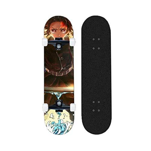 ZENGZENG Skateboards Standard-31-Zoll-7 Schichten Decks Komplett Longboards Anime Series Dämonentöter Geeignet for Jugend Erwachsene Anfänger (Kamado Tanjirou)