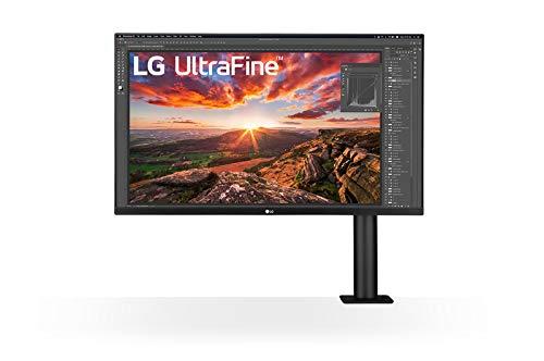 """LG 32BN88U-B - Monitor Ergo IPS UHD 4K Ultrafine da 32"""" (3840 x 2160) con supporto ergonomico e morsetto a C, USB Type-C, DCI-P3 95%(Typ.), HDR10 e AMD FreeSync, nero"""