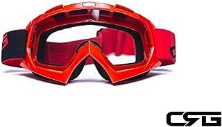 CRG Sports Motocross ATV Dirt Bike Off Road Racing Goggles ORANGE T815-7-6 T815-7-6 - Parent (Transparent Lens Red Frame)