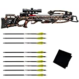 TENPOINT Turbo M1 Pro-View Scope/ACUdraw Pro Crossbow Package with Pro Elite 400 6-Pack Carbon Arrow and Microfiber Cleaning Cloth