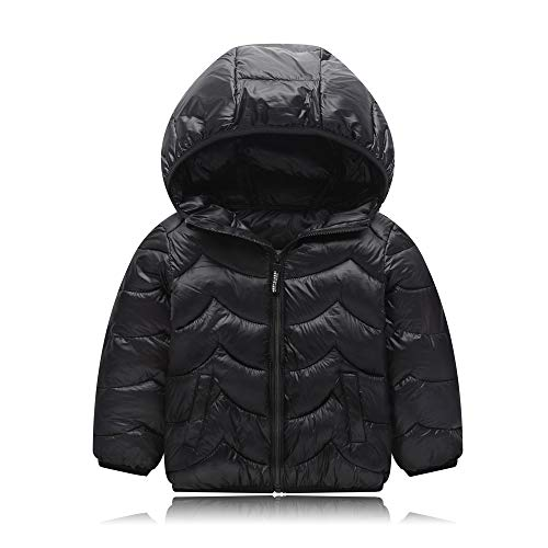 Siphly Kindermeisjes winterjas voor kinderen jongens meisjes verdikte donsjas mantel trenchcoat outdoorwear met capuchon kinderen meisjes jongen donsjas (110-160cm