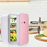 Vogvigo Mini Refrigerador 8L Con Pantalla Digital Temperatura Ajustable Refrigerador Doméstico para Automóvil 45 W / 220 V Para Hogares 12 V Para Automóviles Silencioso Portátil Pequeño Refrigerador