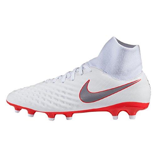 Nike Magista Obra II Academy DF Fg, Scarpe da Calcio Uomo, Rosso Bianco, 42.5 EU