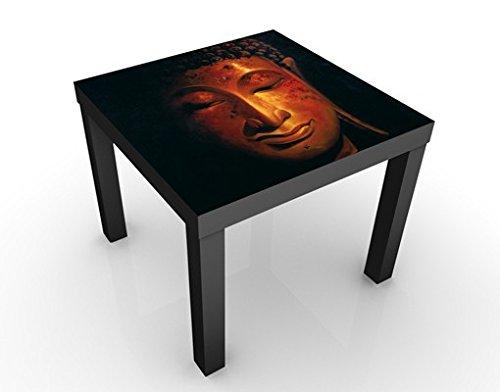 Apalis Tavolino Design Madras Buddha 55x55x45cm, Tischfarbe:Schwarz;Größe:55 x 55 x 45cm